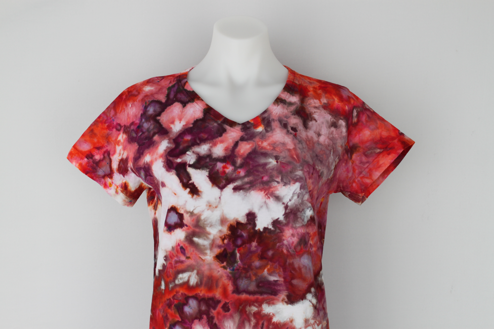 Ladies tie dye shirt size medium ice dye - Spring Blooms