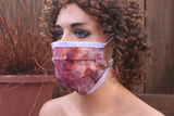 Fabric face mask with Elastic - Spring blooms lavender