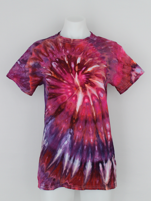 Ladies t shirt size Small - ice dye - Sunset Blush twist