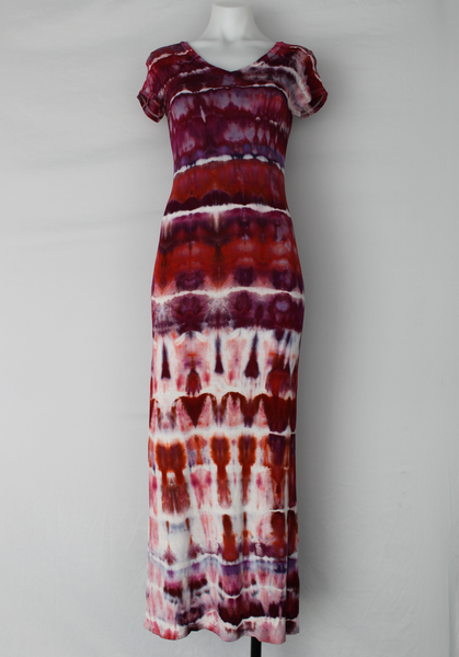 Ice dye Maxi dress - size Small - Sunset Blush vertical