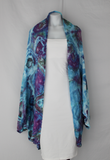 Rayon Cocoon Jacket shawl One size fits most - Tranquil Waters bullseye