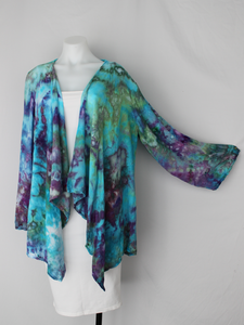 Waterfall Jacket rayon - size Sm / Md - Tranquil Waters crinkle