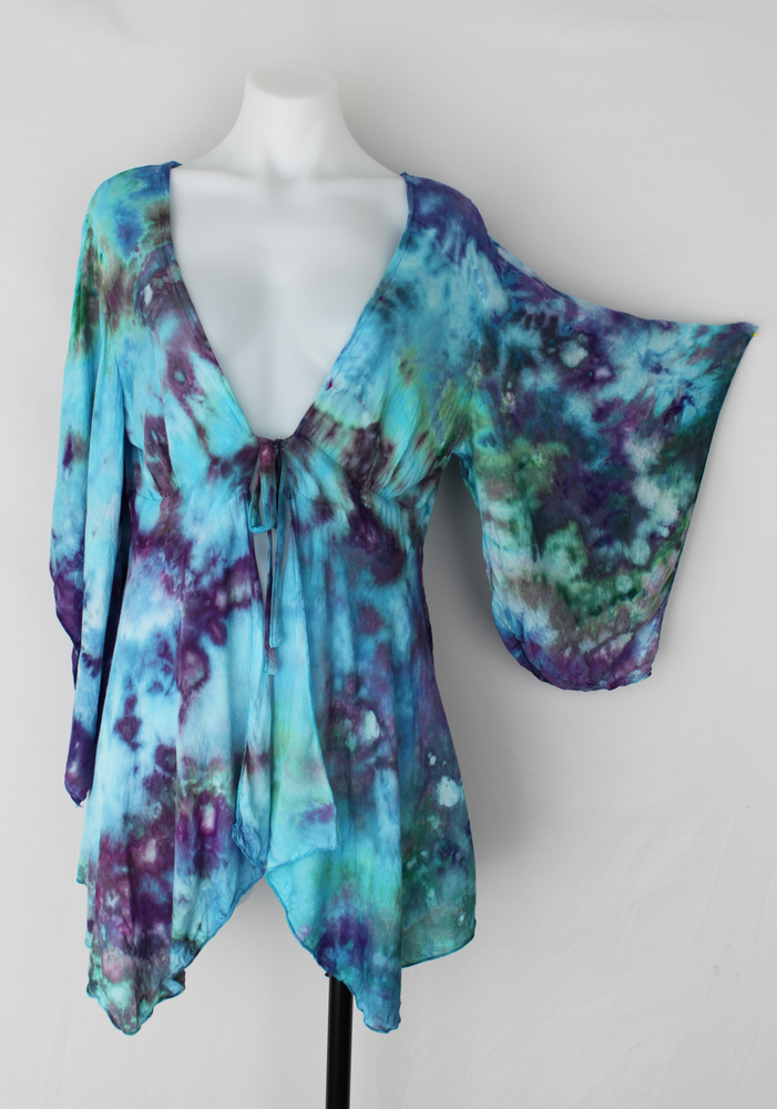 Kimono size SM / MD - Tranquil Waters crinkle