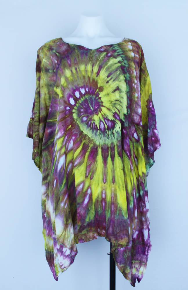 Rayon Poncho One size fits most - ice dye - Turkish Heirloom twist