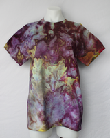 Men's medium shirt snow dye - Turkish Heirloom crinkle