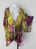 Kimono size SM / MD ice dye - Turkish Heirloom crinkle
