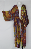 Long tie front Kimono Duster - size XXL - Turkish Heirloom crinkle
