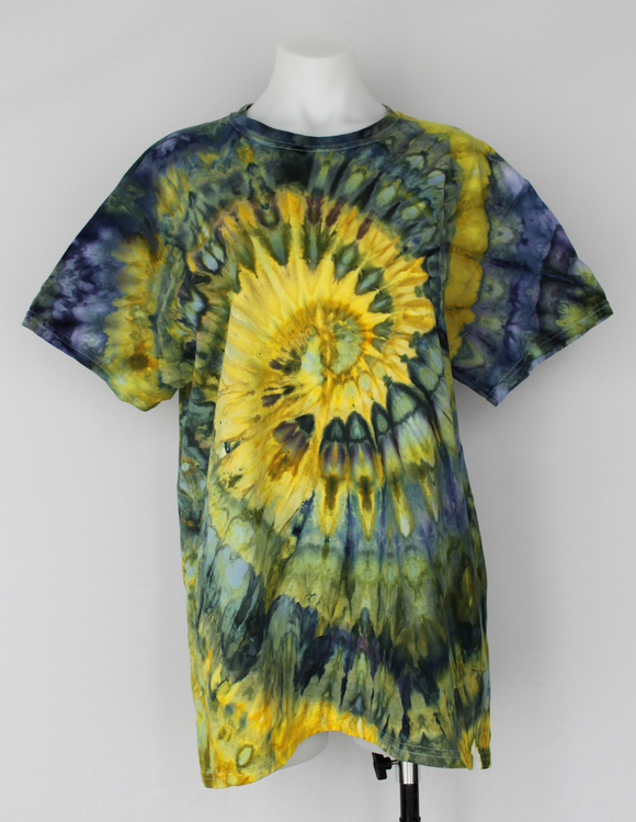 Men's t shirt size Large Unisex - ice dye - Turtle Bay twist
