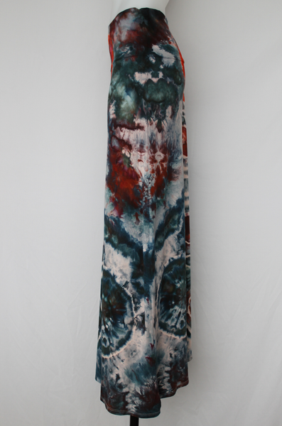 Large Tie dye Maxi Skirt ice dye boho fashion - Un-TEAL Tomorrow centered eye