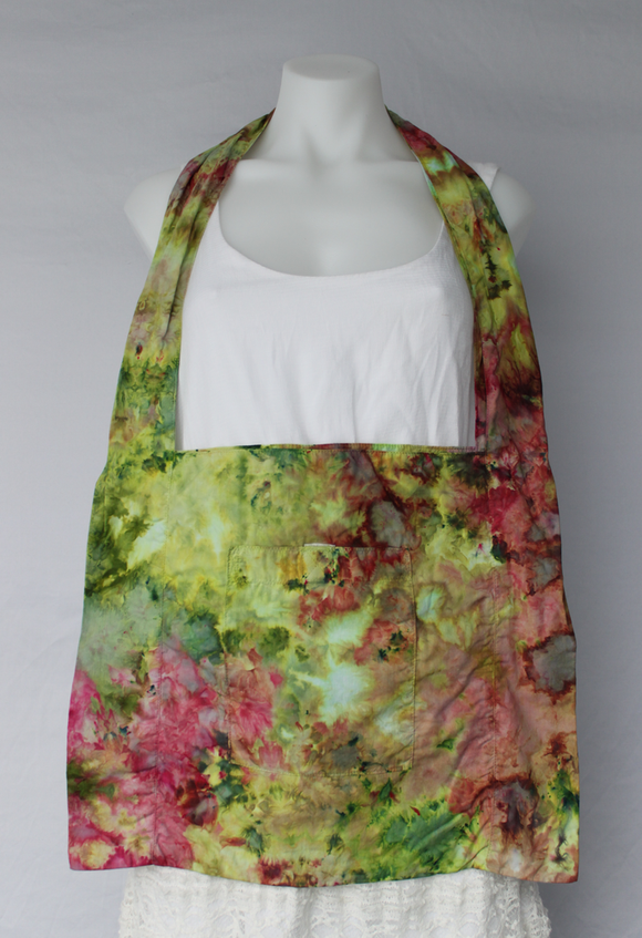 Tie dye Shoulder bag cotton - Waterlilies (1)