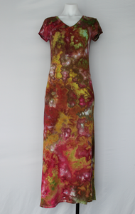 Maxi dress - size Medium - Waterlilies crinkle
