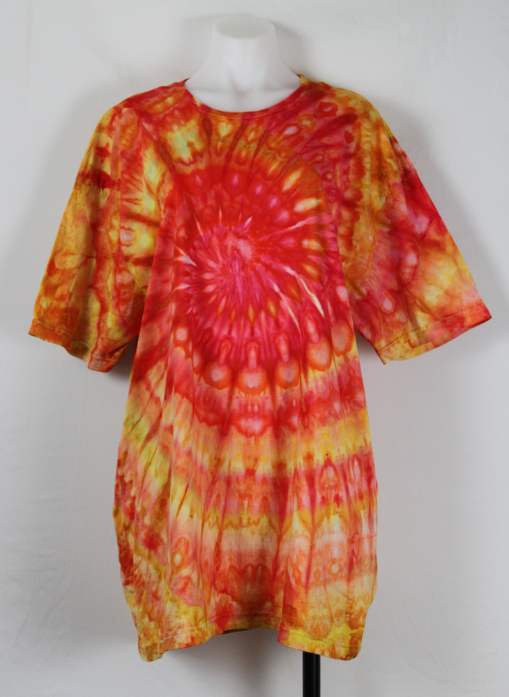 Men's t shirt size XXL - ice dye - Watermelon (2)