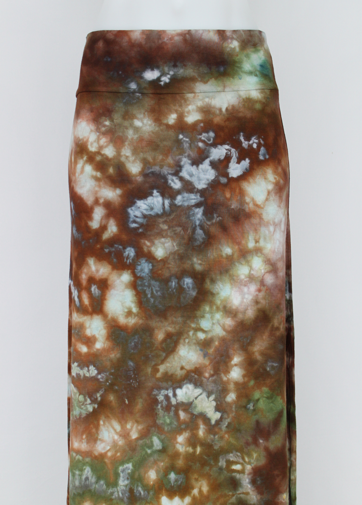 Maxi Skirt size Small - ice dye - Wilderness crinkle