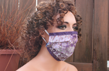 Fabric face mask with Elastic - Wisteria purple