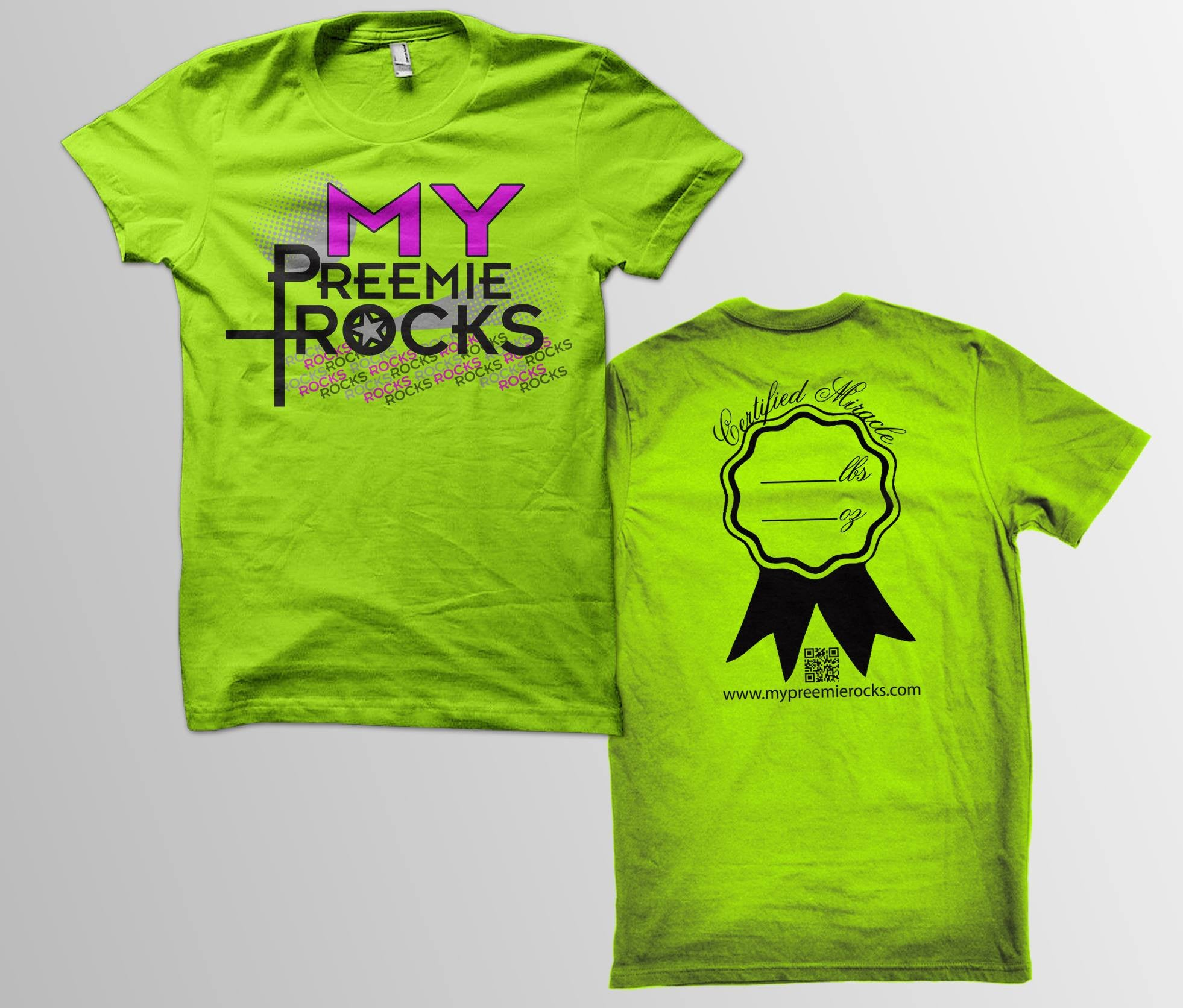 Stand OUT NEON Green MPR Tee