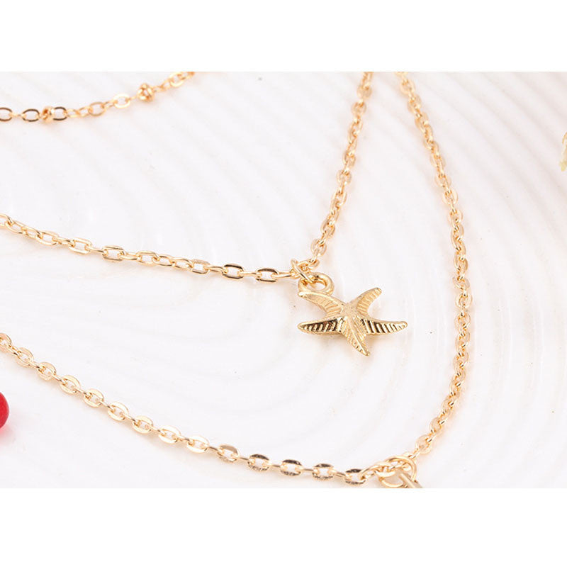 Dainty Ladies Starfish Necklace
