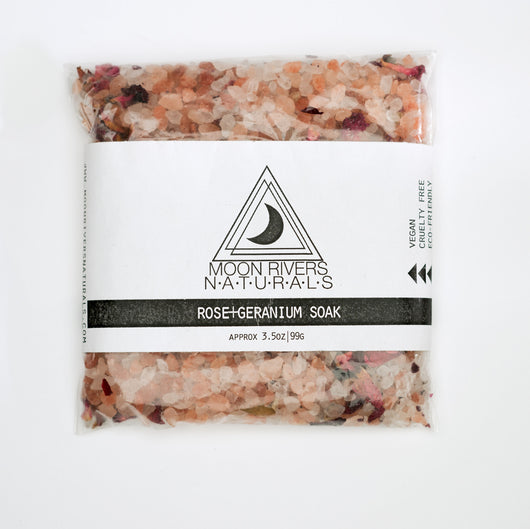 Rose + Geranium Soak - Bath Salts