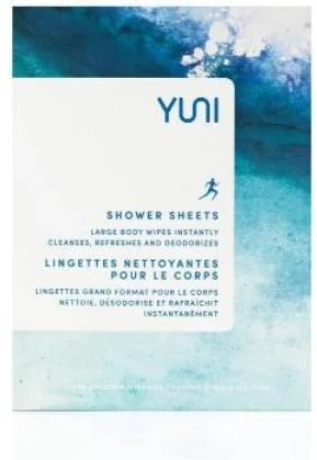 Shower Sheets - Large 10 x 12 Natural Biodegradable Body Wipes (Singles)