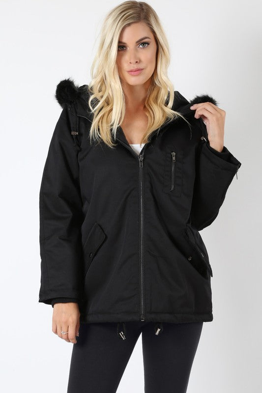 OVER SIZE PADDED JACKET