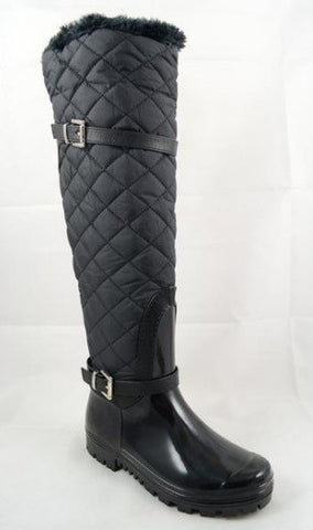 Carrie 66 Over The Knee Rain Boot Quilted