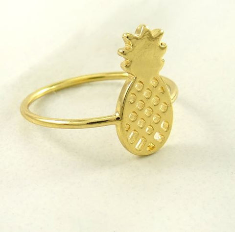 Pineapple Gold Ring