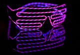 Shuffling Light Up Neon EL Glasses Accessories - Rave Gear