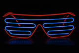 Two-Color EL Shutter Shades Accessories - Rave Gear