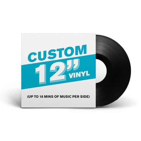 "12"" Lathe Cut Vinyl Record"