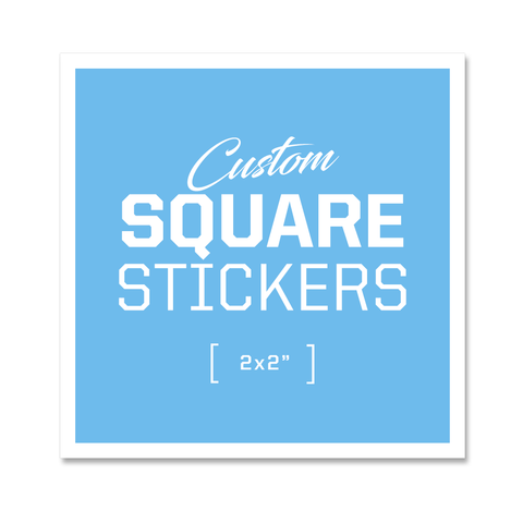 Custom Square Stickers - 2x2""