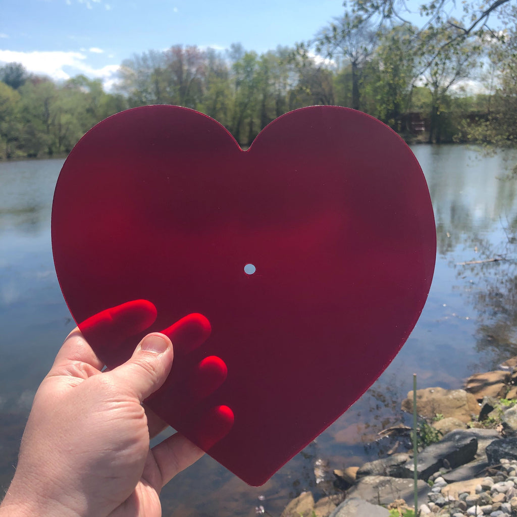 Heart Shaped Lathe Cut Vinyl