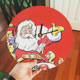 Red Santa Vinyl Record Clock