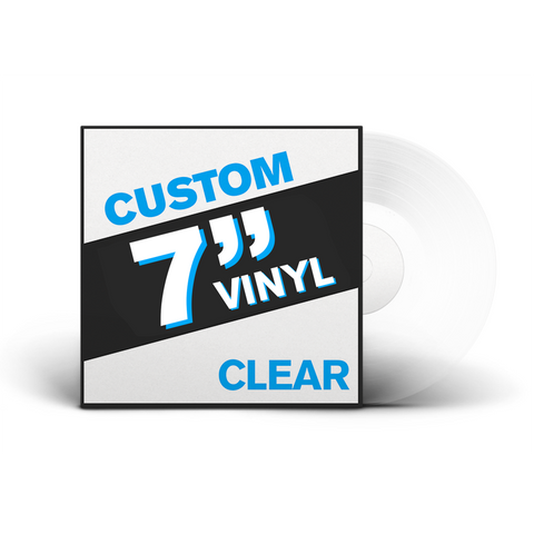 "7"" Lathe Cut Vinyl Record (CLEAR)"