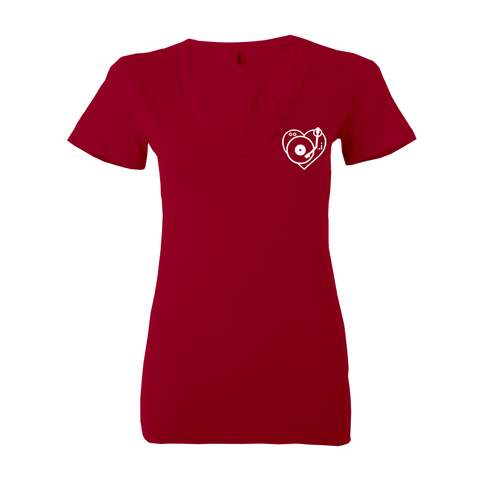 Ladies Heart Deep V