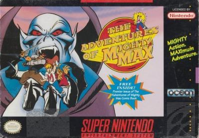 Mighty Max DMG LABEL    SUPER NINTENDO ENTERTAINMENT SYSTEM
