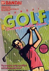 Bandai Golf Challenge Pebble Beach DMG LABEL    NINTENDO ENTERTAINMENT SYSTEM