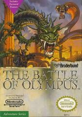 Battle of Olympus DMG LABEL    NINTENDO ENTERTAINMENT SYSTEM
