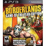 Borderlands Game Of The Year (DLC not on disc)    PLAYSTATION 3