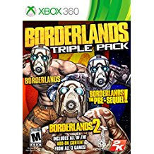 Borderlands Triple Pack    XBOX 360