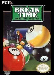 Break Time The National Pool Tour DMG LABEL    NINTENDO ENTERTAINMENT SYSTEM