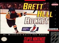 Brett Hull Hockey DMG LABEL    SUPER NINTENDO ENTERTAINMENT SYSTEM