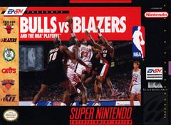Bulls versus Blazers DMG LABEL    SUPER NINTENDO ENTERTAINMENT SYSTEM