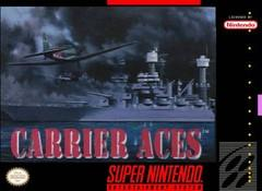 Carrier Aces DMG LABEL    SUPER NINTENDO ENTERTAINMENT SYSTEM