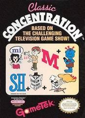 Classic Concentration BOXED COMPLETE    NINTENDO ENTERTAINMENT SYSTEM