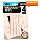 DS Lite 4 Pack Stylus Pen - White    NINTENDO DS NEW ACCESSORY
