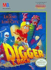 Digger T Rock Legend of the Lost City DMG LABEL    NINTENDO ENTERTAINMENT SYSTEM