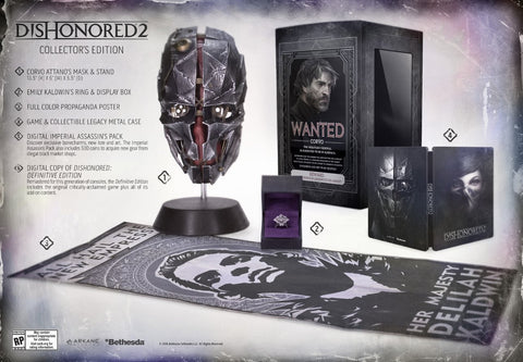Dishonored 2 Collectors Edition    XBOX ONE
