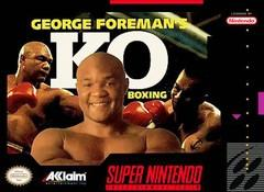 George Foremans KO Boxing BOXED COMPLETE    SUPER NINTENDO ENTERTAINMENT SYSTEM