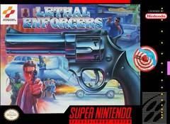 Lethal Enforcers w gun DMG LABEL    SUPER NINTENDO ENTERTAINMENT SYSTEM