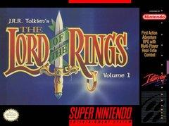 Lord of the Rings Vol I DMG LABEL    SUPER NINTENDO ENTERTAINMENT SYSTEM