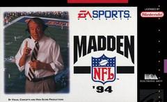Madden NFL 94 DMG LABEL    SUPER NINTENDO ENTERTAINMENT SYSTEM